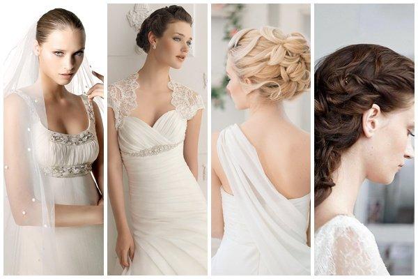 Свадебные Прически на Средние Волосы 50 фото