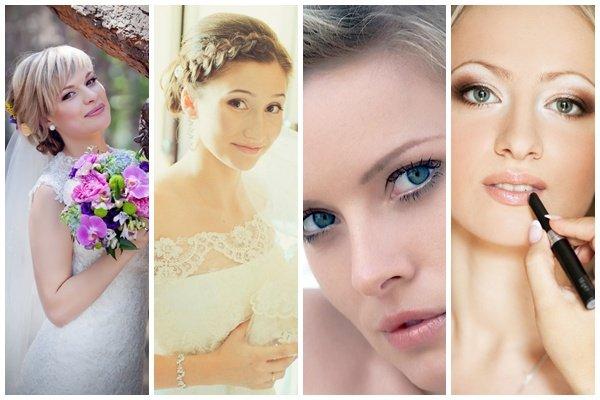 Макияж свадебный для голубых глаз