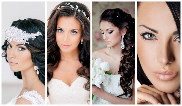 Примеры свадебного макияжа для брюнеток