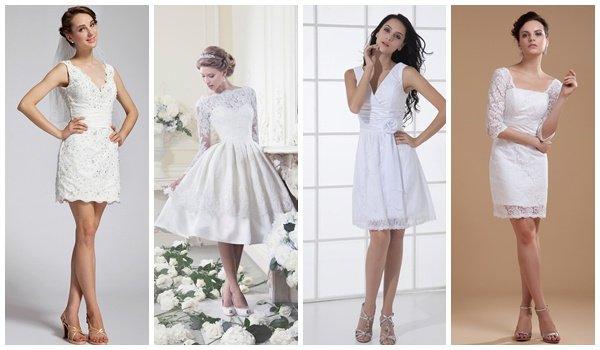 Свадебный образы в коротких платьях