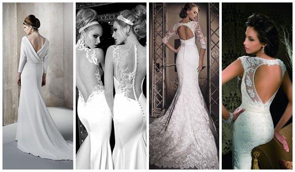 Свадебное платье голая спина