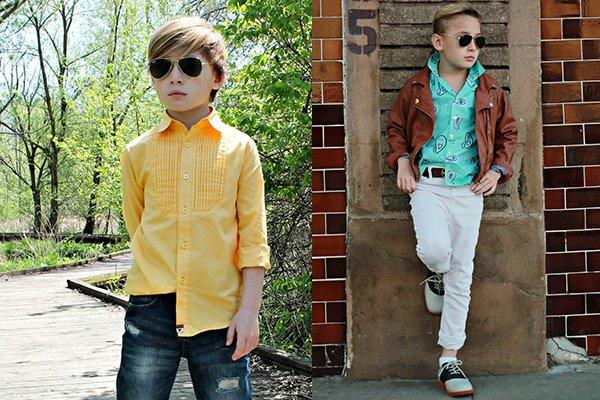 Фото модных рубашек для мальчика