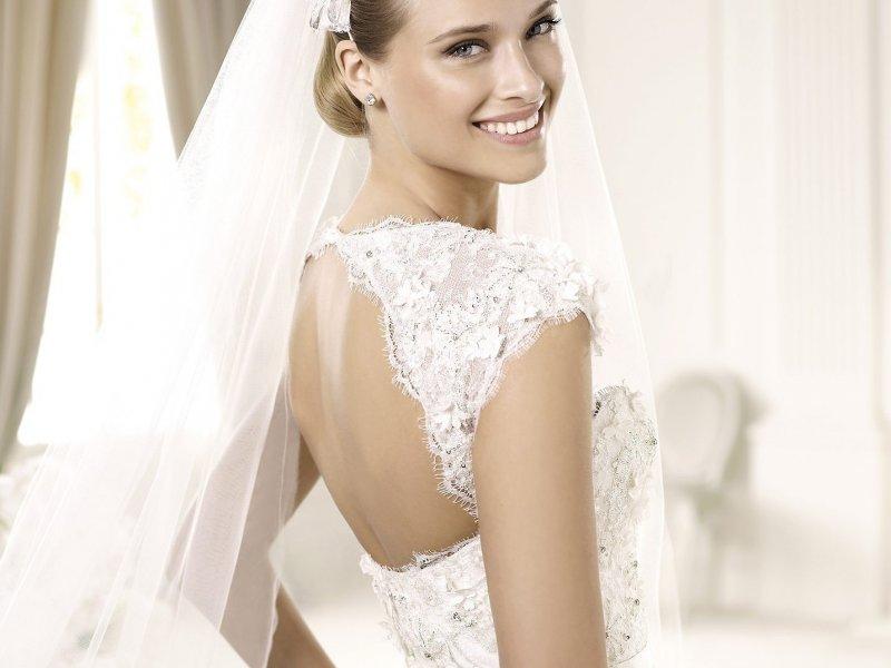 Свадебное платье с открытой спиной: фото, как выбрать открытое