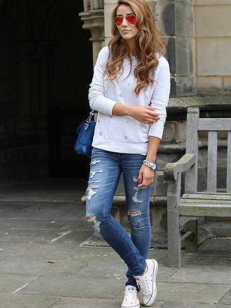 Кеды носят с чем мода фото