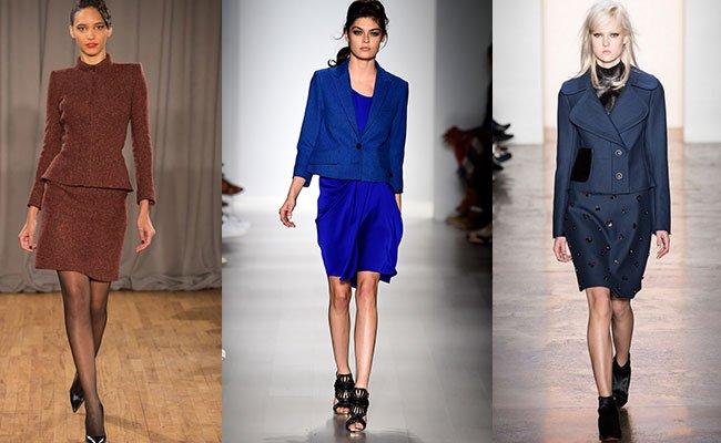 Женские костюмы пиджак и юбка доставка
