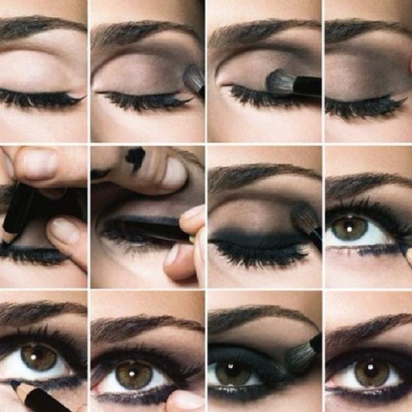 как красить большие глаза фото