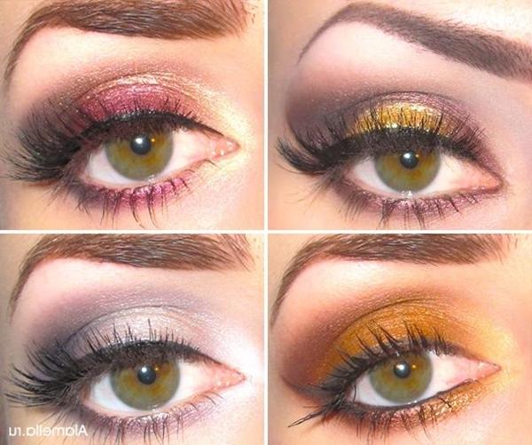 sminking av brune øyne