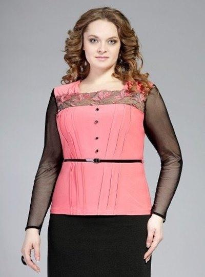 Блузки модные для полных женщин