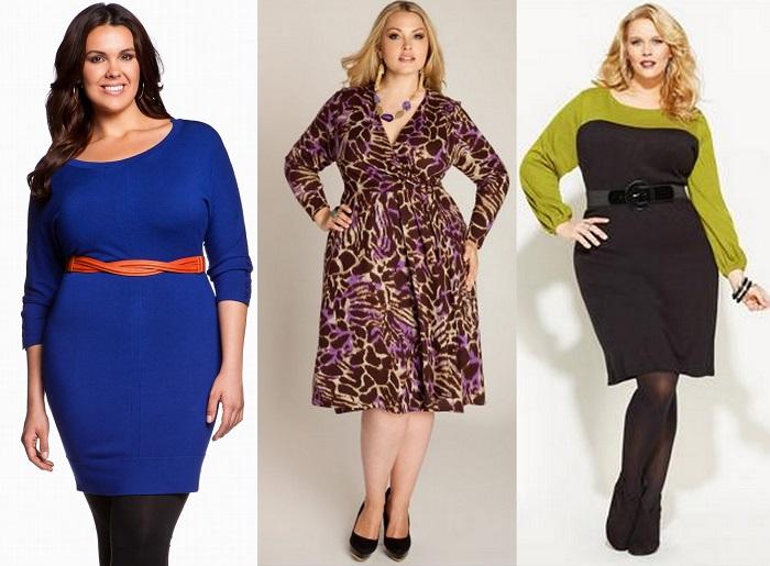Как подобрать правильно платье для полной девушки