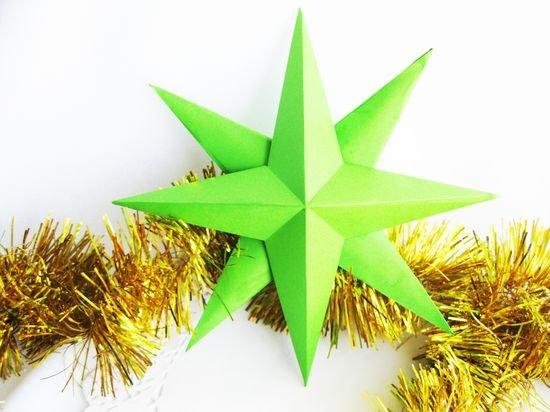 Как сделать объемную звездочку из бумаги своими