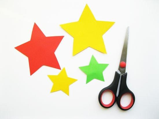Объемные звездочки из бумаги своими руками на