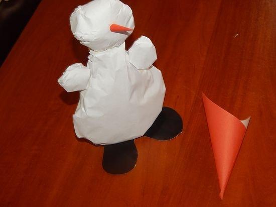 Как сделать снеговика своими руками поделка