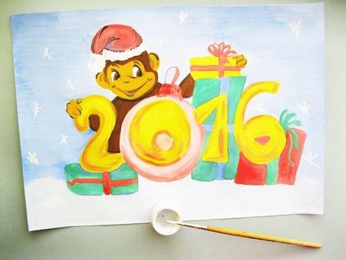 Плакат на новый год фото своими руками