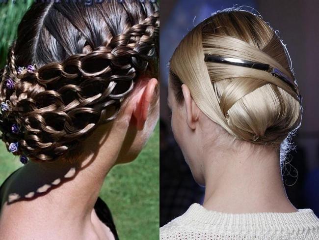 Прическа на среднюю длину волос пошагово