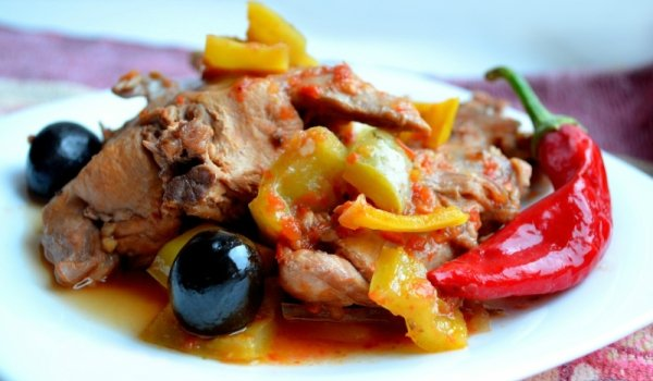 овощами Рецепт с приготовления кролика