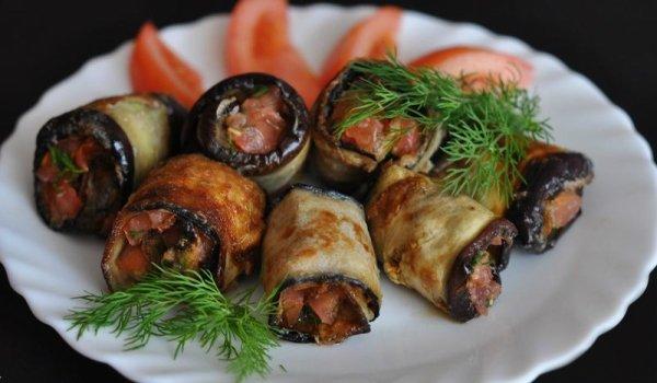 по-грузински орехами приготовления Баклажановые грецкими рецепты с рулетики
