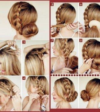Как сделать причёску из средних волос поэтапно 681