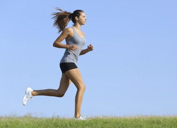 бег для похудения таблица