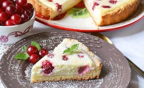 пирог с вишней и творогом рецепт с фото пошагово в духовке