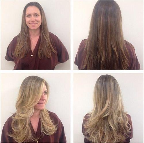 Русый цвет волос до и после фото