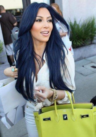 темно-синий цвет волос фото