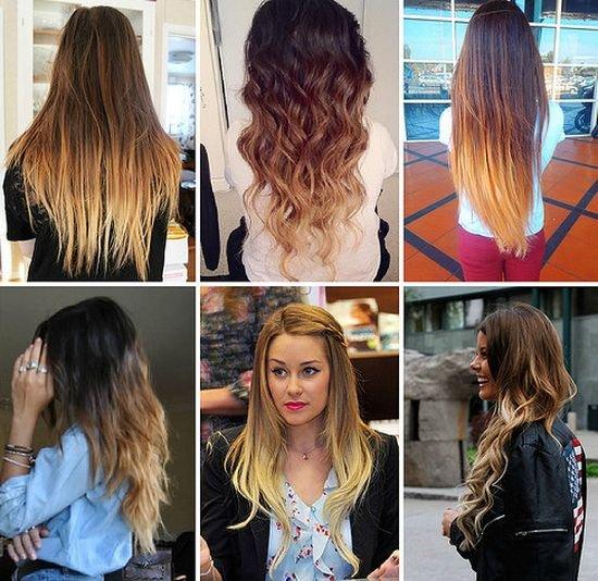 Покраска волос в два темных цвета фото