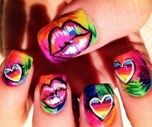 Рисунки летние на ногтях