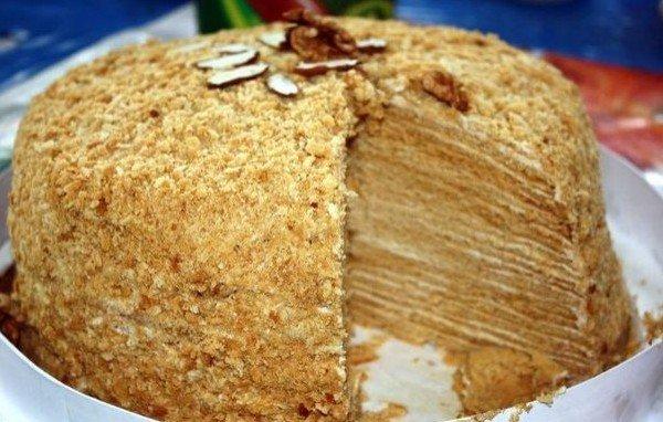 Торт из блинов рецепт со сгущенкой