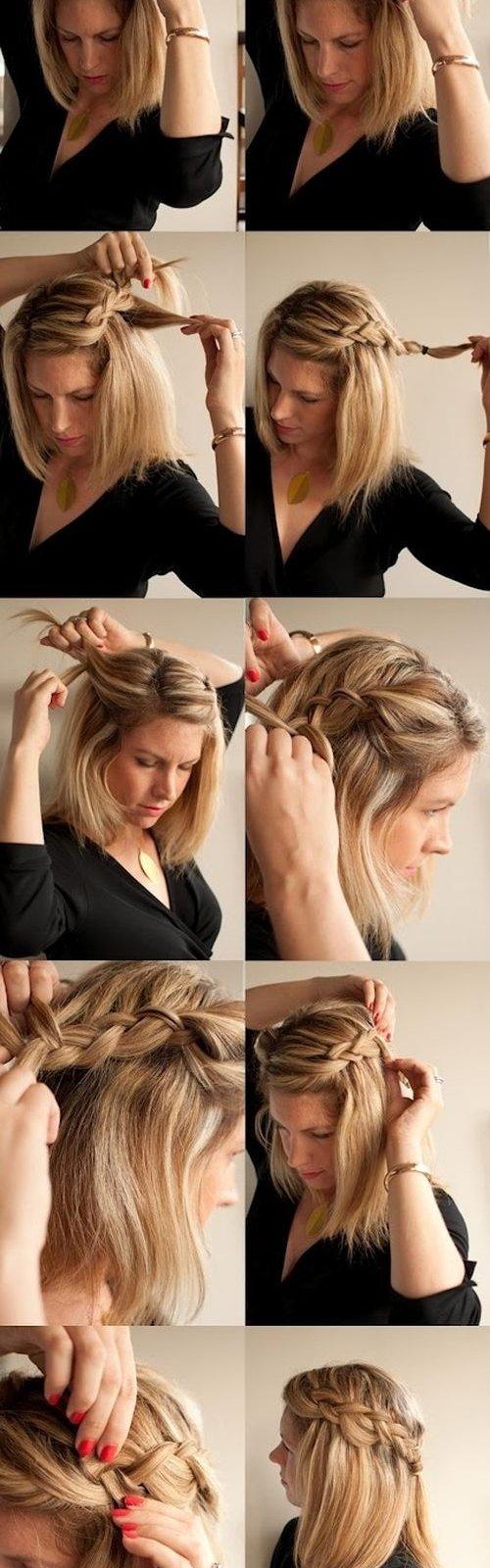 плетение греческой косы схема