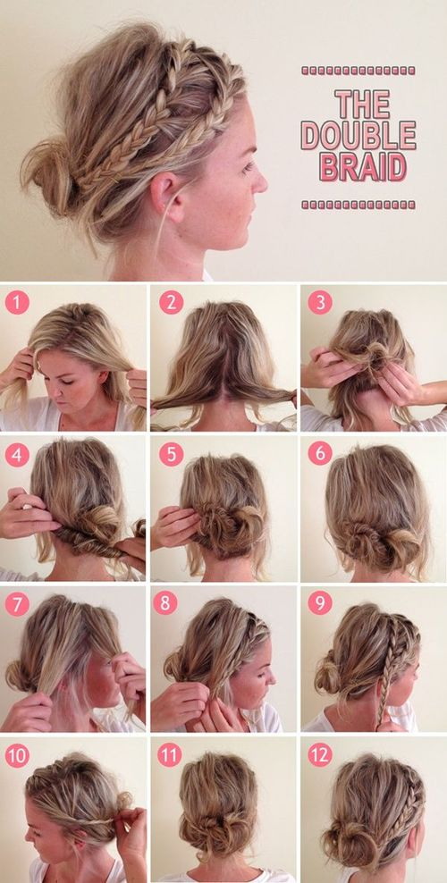 Греческая коса на средние волосы пошаговая инструкция