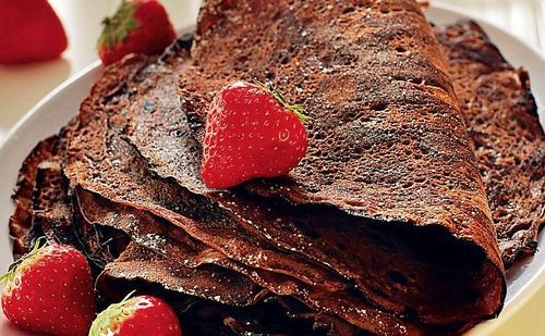 блины рецепт на воде шоколадные