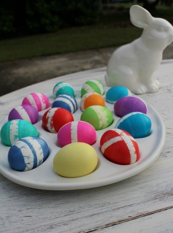 Яйца на Пасху своими руками, идеи с фото. Как раскрасить ...