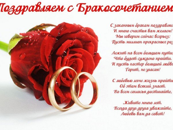 Поздравление девушки с днем свадьбы своими словами 598