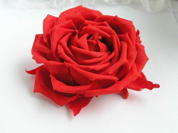 Розы с ткани сделать