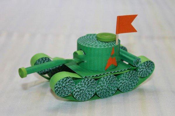 Сделать танк своими руками из картона поэтапно