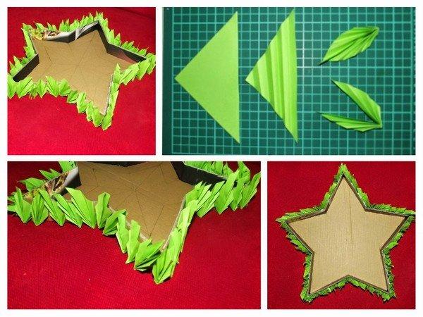 Как сделать звезду из гофрированной бумаги своими руками
