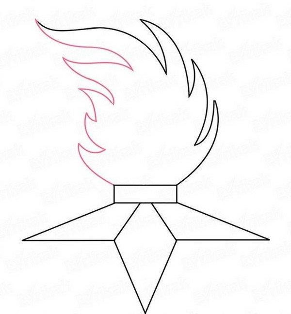 Рисунок вечный огонь на 9
