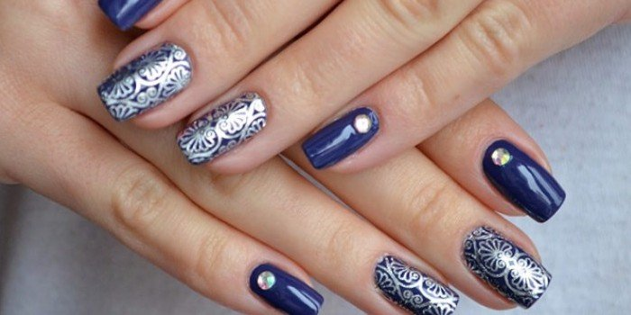 фото красивых нарощенных ногтей с рисунками