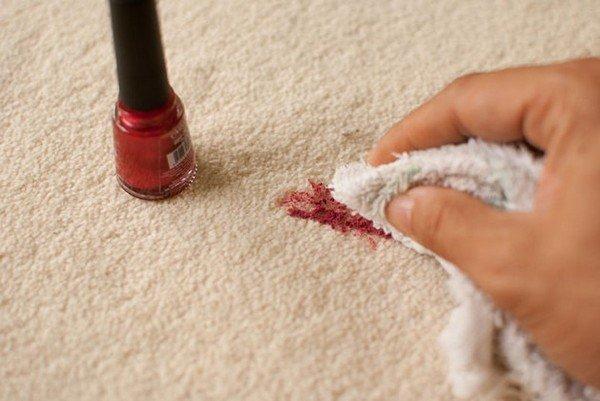 Как лак для ногтей отстирать