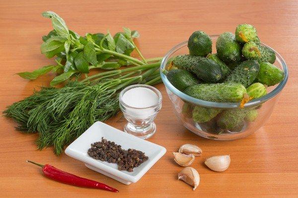 Огурцы малосольные в пакете по-быстрому - кулинарный рецепт 70