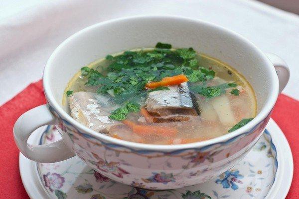 как варить суп из сайры рецепт
