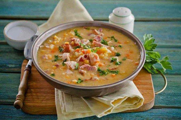 Гороховый суп с курицей и с грибами рецепт