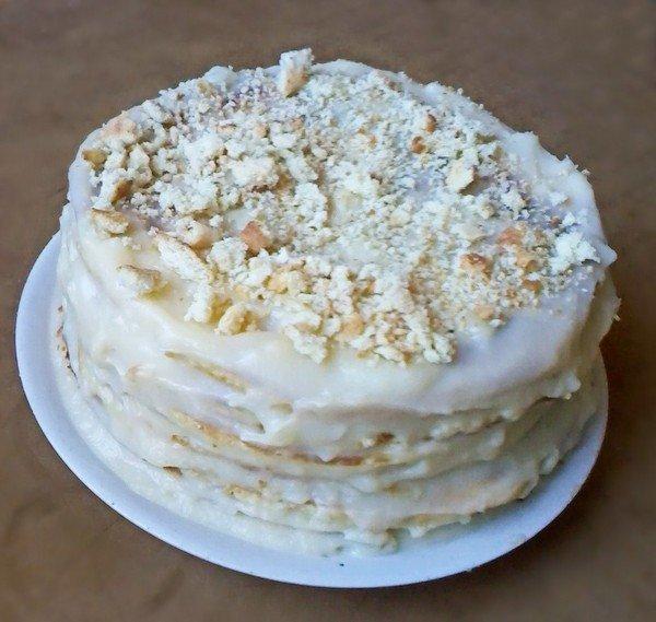 Бисквитный торт на сковороде рецепт с пошагово