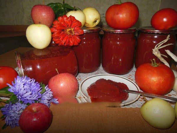 Рецепт кетчупа с помидорами и яблоками
