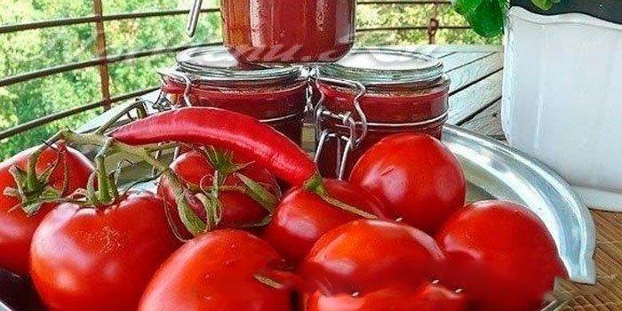 Домашний кетчуп из помидоров и слив