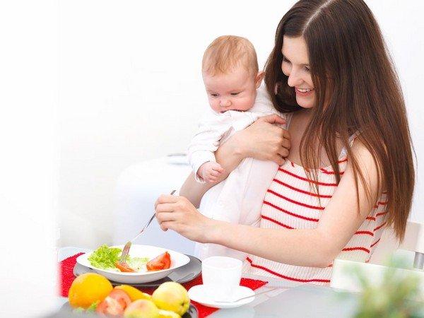 Еда для жирности молока после родов