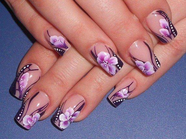 Роспись ногтей маникюра