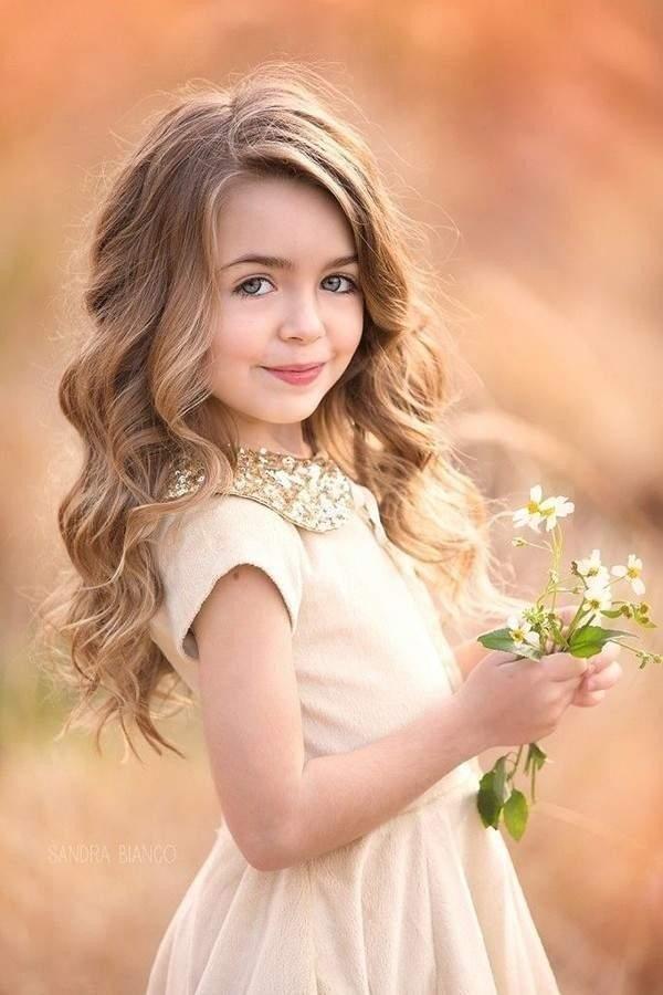Прическа локоны на средние волосы девочке