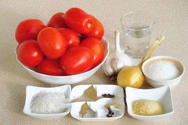 рецепт целых помидор в желе на зиму