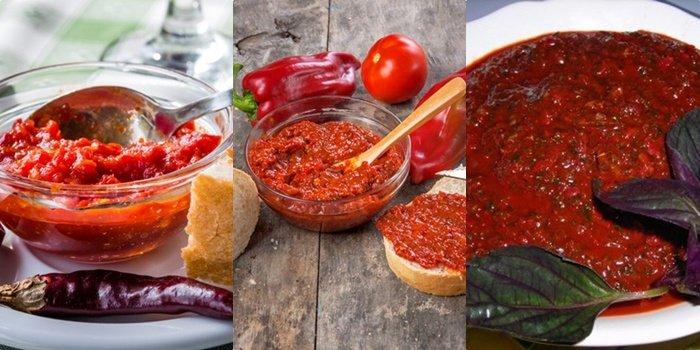 аджика из помидор и болгарского перца на зиму рецепт